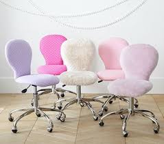 girls desk furniture. round upholstered task chair bright pink heart desk chairpink chairspottery girls furniture o