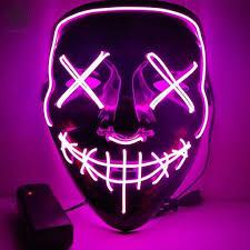 Luxtrada <b>Halloween</b> LED Glow Mask EL Wire Light Up The <b>Purge</b> ...