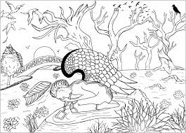 Fallen Angel Valentin Adult Coloring Pages
