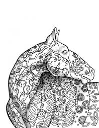 Small Picture horse tangle adult coloring page intricate coloring page detailed