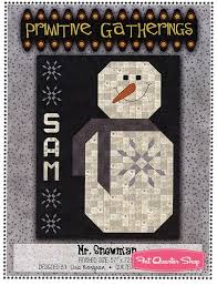 Mr. Snowman Quilt Pattern Primitive Gatherings #PRI-494 | Fat ... & Hover to zoom Adamdwight.com