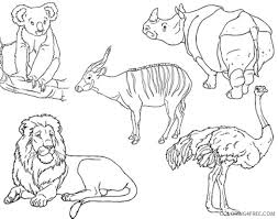 Small Picture zoo animal coloring pages printable Coloring4free Coloring4Freecom