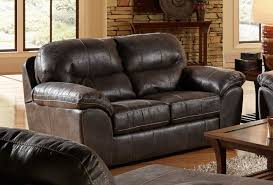 jackson grant bonded leather loveseat steel