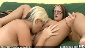 Beautiful girls lick each other cunt