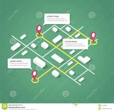 Map Design Isometric City Map Design Elements Stock Vector