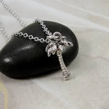details about silver palm tree necklace hawaiian beach pendant tropical paradise jewerly