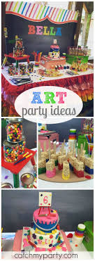 what a fun and creative art themed birthday party see more party ideas at catchmyparty