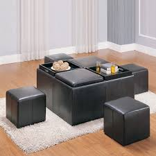 12 Photos Gallery Of: Leather Storage Ottoman Coffee Table
