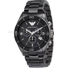 men s emporio armani ceramic chronograph watch ar1421 watch mens emporio armani ceramic chronograph watch ar1421