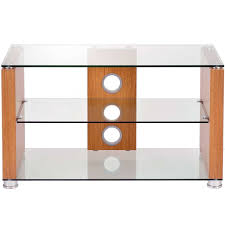ttap elegance 1200 light oak tv stand up to 55 glass shelves for glass and