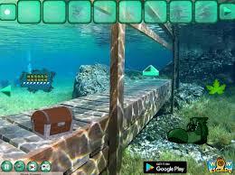 Wooden Bridge Game Underwater Forest Escape Game NEG 94