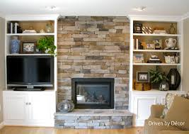 Premade Built In Bookcases Transforming A Fireplace And Built In Bookcases Love The Stone