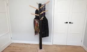 Diy Wood Coat Rack Mesmerizing DIY Wooden Coat Rack Bunnings Warehouse
