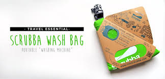 Travel Washing Machine Travel Essential Scrubba Wash Bag A Carry On Washing Machine