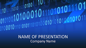 Powerpoint Backgrounds Blue Binary Code Powerpoint Template Templateswise Com