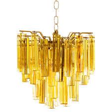 amber glass murano chandelier for