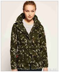 superdry army camo rookie tall collar parka l855616 superdry outerwear womens jackets