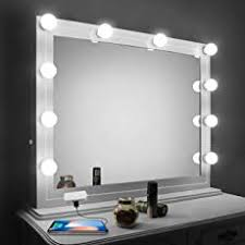 miror lighting. Vanity Mirror Lights Kit,2018 Upgarded LED For With Dimmer And USB Phone Miror Lighting