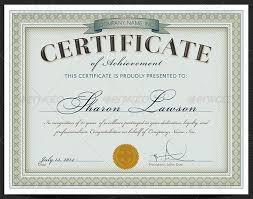 Certificate Template Photoshop Certificate Of Excellence Template Psd Launchosiris Com