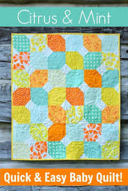 35 Easy Quilts To Make This Weekend - Page 10 of 11 - DIY Joy & Best Quilts to Make This Weekend - Citrus & Mint Baby Quilt - Free Quilt  Patterns Adamdwight.com