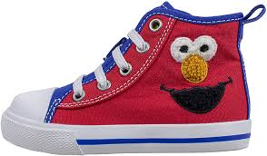 Elmo Light Up Shoes Sesame Street Elmo Shoes Hi Top Sneaker With Laces For Toddlers And Kids Size 6 To 12
