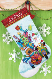 Santa's Sidecar Stocking Counted Cross Stitch Kit-16