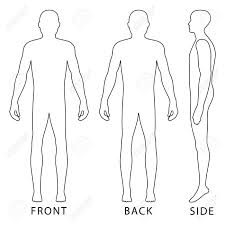 Fashion Body Full Length Bald Template Figure Silhouette Front