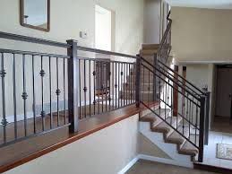 interior iron railing traditional-staircase