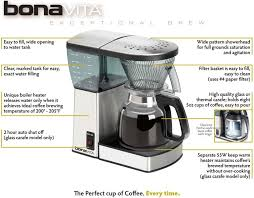 bonavita bv 1800th the bonavita exceptional brew 8 cup coffee maker