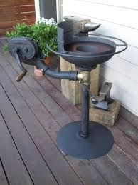 homemade coal forge