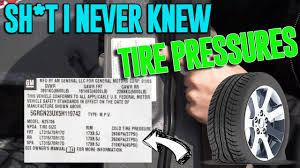 Sh T I Never Knew Get Pumped Up Tire Pressures