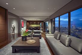 Amazing Contemporary Apartment Living Room With Modern Apartment 1