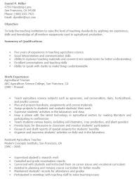 18 Free Agriculture Instructor Resume Samples Sample Resumes