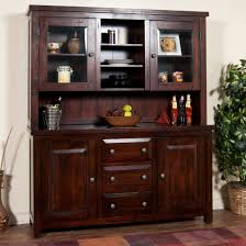 ... Dining Room Ideas, Breathtaking Dark Brown Rectangle Contemporary  Wooden Dining Room Hutch Stained Ideas: ...