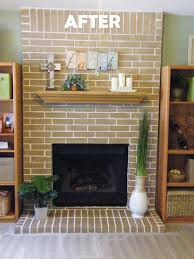 easy fireplace makeover concrete stain got rid of my ugly red brick fireplace