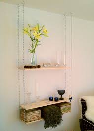 Creative Hanging Shelves from Ceiling for Apt Elegance : Hanging Shelf Ideas