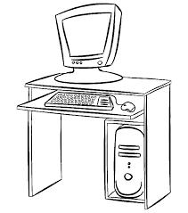 In Huis Kleurplaten Computer Tafel