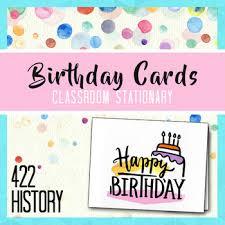 Teachers Birthday Card Birthday Cards Teacher Stationary