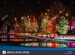 a hudson holiday light show at hudson gardens littleton colorado usa