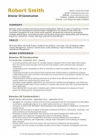 Example Of Construction Resume Director Of Construction Resume Samples Qwikresume