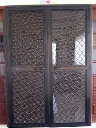 Double Swinging Doors Double Swing Type Screen Door On Alcoframe Profile Society Glass