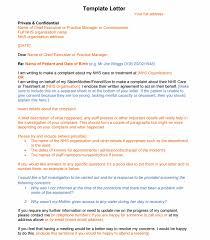 nhs complaints letter sample templates negligence claimline advonet sample letter