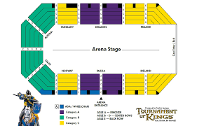 Excalibur Seating Chart Tournament Of Kings Dinner Show Ticket In Las Vegas