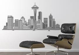 wall decal seattle bea elegant wall decal city skyline