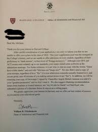 College Acceptance Letters Amazing Quirky Girl Rejected From Harvard And That Girl's Name ThatHappened