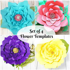 Giant Paper Flower Svg Diy Giant Paper Flowers Template Instant Download Paper Flower Pdf