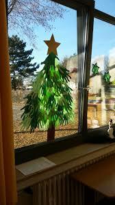 Tannenbaum Aus Händen Der Kinder Aus Grünem Papier Tolle