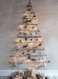 Frosted Branches Hanging Tree - graduated tree branches are hung by jute,  wrapped with string