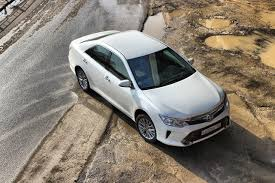 Photos Toyota Camry 2014 CIS-spec White automobile From above