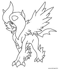 Coloriage Pokemon Mega Evolution Legendaire L